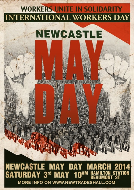 Newcastle May Day March 2014